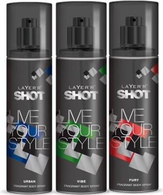Layer,R Shot Urban,Vive, Fury Fragrance Body Spray Deodorant Spray  -  For Men