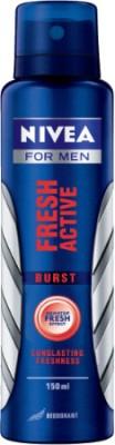 Nivea Fresh Active - Burst Deodorant Spray  -  For Men
