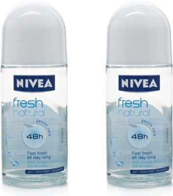 Nivea Fresh Natural Deodorant Roll On Pack Of 2 Deodorant Roll-on  -  For Women
