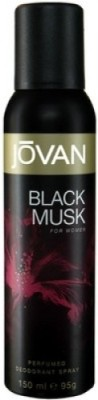 Jovan Black Musk (Women) Deodorant Spray - For Women  (150 ml)