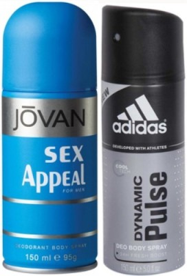 Adidas Sex Appeal and Dynamic Pulse Body Spray  -  For Boys, Men