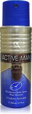 Chris Adams Body Spray (Active Man) Body Spray  -  For Men, Boys