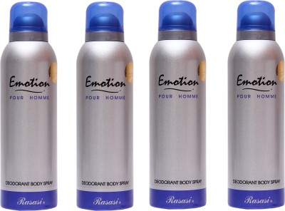 Rasasi 4 Emotion Men Deodorant Spray  -  For Men