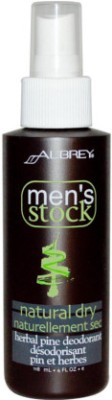Aubrey Organics Mens Stock Herbal Pine Deodorant Deodorant Spray  -