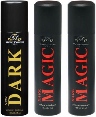 Vincent Valentine Paris New Dark & Dark Magic Body Spray - For Men, Women(480 ml)