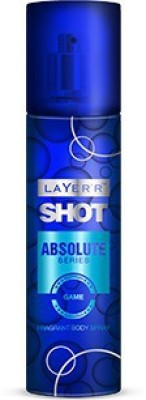 Layerr Shot - Absolute Series - Game Deodorant Spray - For Men, Boys(135 ml)