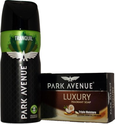 Park Avenue TRANQUIL DEO LUXURY SOAP FREE Deodorant Spray  -  For Men, Boys