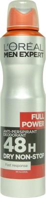 L,Oreal Paris Full Power No Alcohol Dry Non-Stop Anti-Perspirant With Ayur Soap Deodorant Spray  -  For Boys, Men