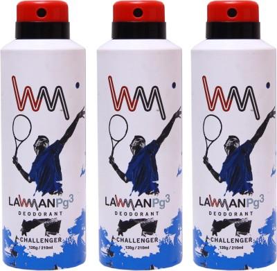 LAWMAN 3 Challenger Deodorant Spray  -  For Men