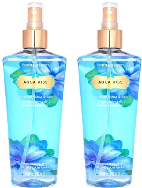 Victoria's Secret Aqua Kiss combo gift set Body Mist  -  For Girls, Women(500 ml)