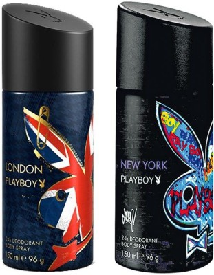 Playboy London Newyork Body Spray - For Men