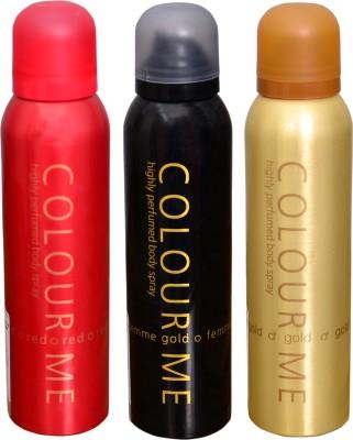 COLOR ME 1 RED::1 FEMME GOLD::1 HOMME GOLD DEO Deodorant Spray  -  For Men