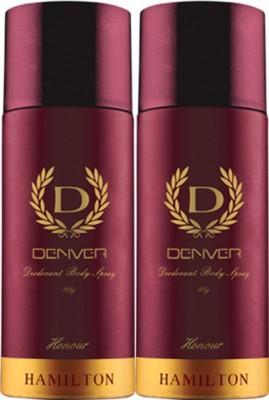 Denver Hamilton Honour Deodorant Spray Pack of 2 Body Mist  -  For Men