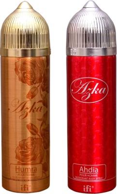 AZKA 1 HUMRA::1 AHDIA Deodorant Spray  -  For Men, Women