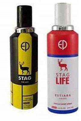 ESTIARA STAG PERFUME BODY SPRAY FOR MEN and STAG LIFE PERFUME BODY SPRAY FOR MEN Body Spray  -  For Men