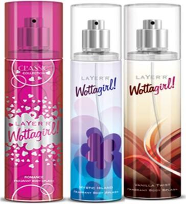 Layer,r Layer,r Wottagirl Romance, Mystic Island, Vanilla Twist Body Spray(Set of3) 135 ml Each Body Spray  -  For Women
