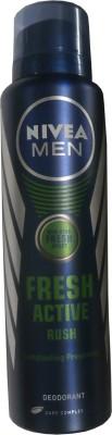 Nivea Fresh Active - Rush Deodorant Spray  -  For Men