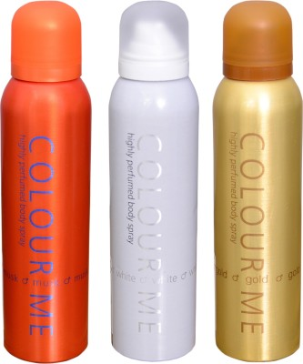 COLOR ME 1 MUSK::1 WHITE::1 HOMME GOLD DEO Deodorant Spray  -  For Men