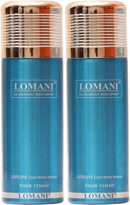 Lomani Cool Water Deodorant Spray  -  For Men, Women