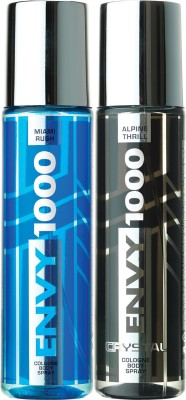 ENVY 1000 Alpine Thrill & Miami Rush Crystal Deo Combo (Pack of 2) Body Spray  -  For Men