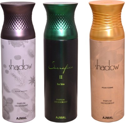 AJMAL 1 SHADOW MEN::1 SHADOW WOMEN::1 SACRIFICE II FOR HIM Deodorant Spray  -  For Women