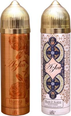 AZKA 1 HUMRA::1 MUSK D,ARABIE Deodorant Spray  -  For Men, Women