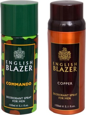 English Blazer 1 COMMANDO::1 COPPER Deodorant Spray  -  For Men