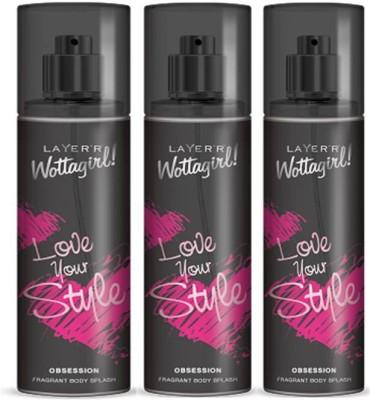 Layer,r Wottagirl Obsession Deodorant Spray  -  For Girls, Women
