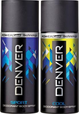 DENVER Denver Cool and Blue Sport Deo Combo (Pack of 2) Deodorant Spray  -  For Men