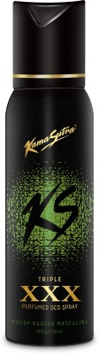 Kamasutra Black XXX Triple Perfumed Body Spray  -  For Men