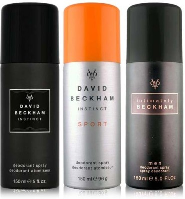 David Beckham Sport Instinct and Intimately Deodorant Spray  -  For Men
