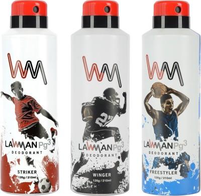 LAWMAN PG3 Striker, Winger , Freestyler Deodorant Spray  -  For Men