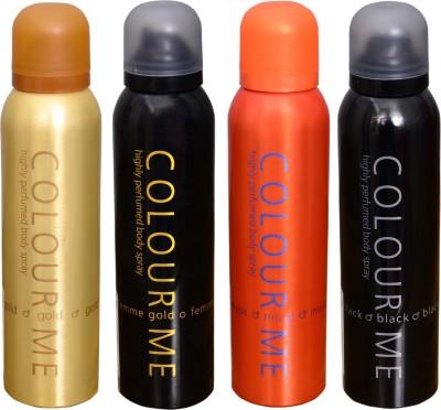 COLOR ME 1 FEMME GOLD::1 MUSK::1 GOLD HOMME::1 BLACK DEO Deodorant Spray  -  For Men
