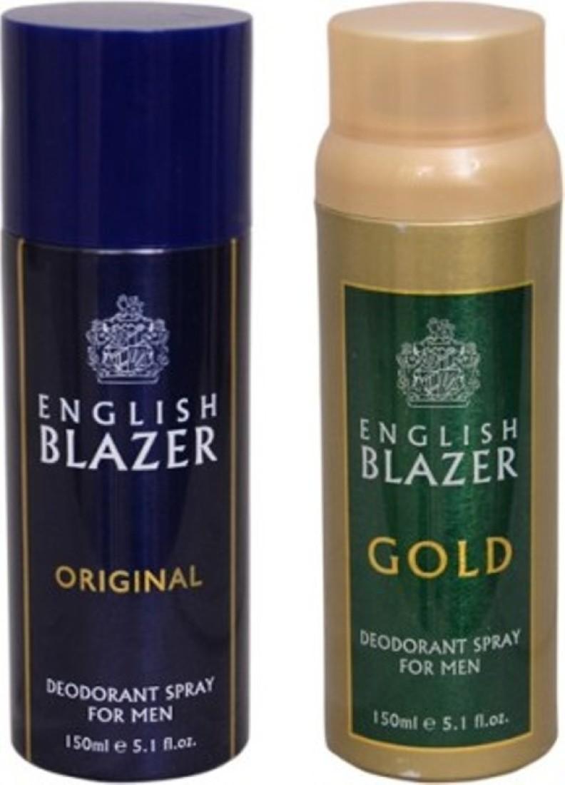 english blazer gold and original Deodorant Spray  -  For Men