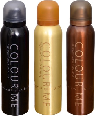 COLOR ME 1 HOMME GOLD::1 OUDH::1 BLACK DEO Deodorant Spray  -  For Men