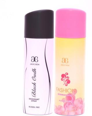 Arochem Black Oudh Fashion Deodorant Spray  -  For Men, Women
