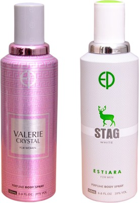 ESTIARA 1 VALERIE CRYSTAL::1 STAG WHITE Deodorant Spray  -  For Men
