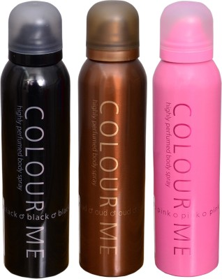 COLOR ME 1 PINK::1 OUDH::1 BLACK DEO Deodorant Spray  -  For Men