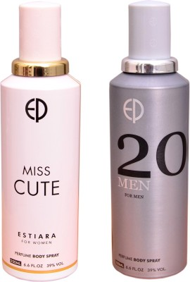 ESTIARA 1 MISS CUTE::1 20 MEN Deodorant Spray  -  For Men