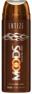 MOODS Entize Deodorant Body Spray  -  For Men, Boys