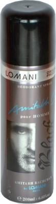 Lomani Amitabh Bachchan - Black Deodorant Spray  -  For Men