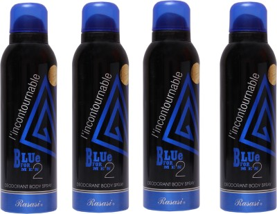 Rasasi 4 Blue Incontournable Deodorant Spray  -  For Men