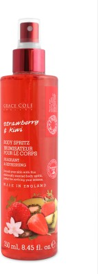 Grace Cole Body Spritz Strawberry & Kiwi Body Spray  -  For Men, Women