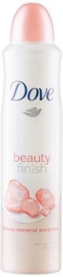 Dove Beauty finish mineral enriched 48h anti perspirant ( pack of 2 ) Deodorant Spray  -  For Men, Women, Girls, Boys at flipkart