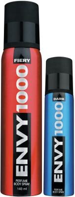 Envy1000 Fiery Deo 130 Ml & Dark Spray Nano 40 Ml Deodorant Spray - For Men(170 ml)