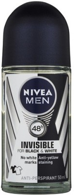 Nivea Invisible for Black and white Deodorant Roll-on  -  For Men