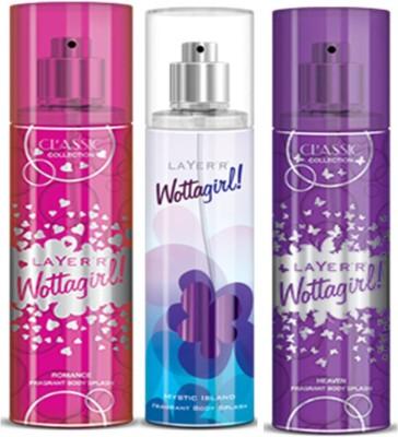 Layer,r Layer,r Wottagirl Romance, Mystic Island, Heaven Body Spray(Set of3) 135 ml Each Body Spray  -  For Women