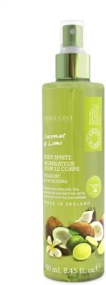 Grace Cole Body Spritz Coconut & Lime Body Spray  -  For Men, Women
