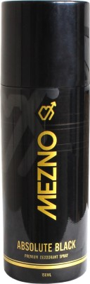 Mezno Absolute Black Deodorant Spray  -  For Men