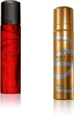 Oriflame Sweden Giordani & love portion set of 2 Body Spray  -  For Boys, Men, Girls, Women